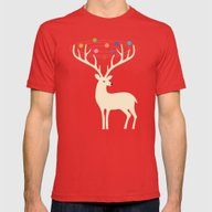 My Deer Universe Mens Fitted Tee Red SMALL