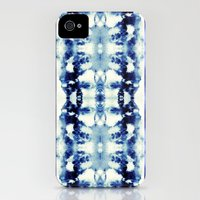 iPhone 4s & iPhone 4 Cases featuring Tie Dye Blues by Nina May Designs