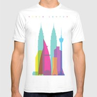 Shapes Of Kuala Lumpur. … Mens Fitted Tee White SMALL