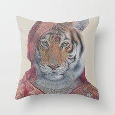Indian Tiger Throw Pillow