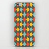 Grey Argyle iPhone & iPod Skin