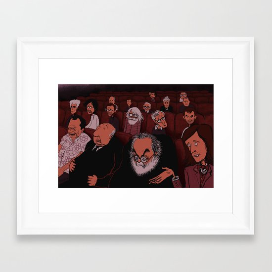 At The Movies Framed Art Print