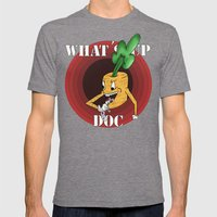 What's Up Doc Mens Fitted Tee Tri-Grey SMALL