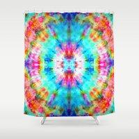 Rainbow Sunburst Shower Curtain
