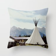 Throw Pillow featuring Mountain Life by Leslee Mitchell