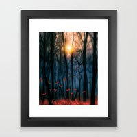 Red feather dance  (colour option) Framed Art Print