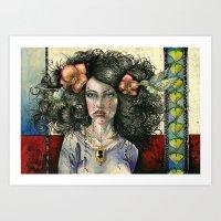 She Had Hummingbirds In … Art Print