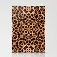 Leopard Fur Abstract Kaleidoscope Print Stationery Cards