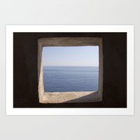 Ocean Window Art Print