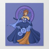 Gallifreyan Girl Canvas Print