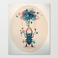 funny beetle Canvas Print
