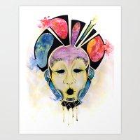 Veto's Mask Art Print