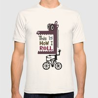 This is How I Roll Mens Fitted Tee Natural SMALL