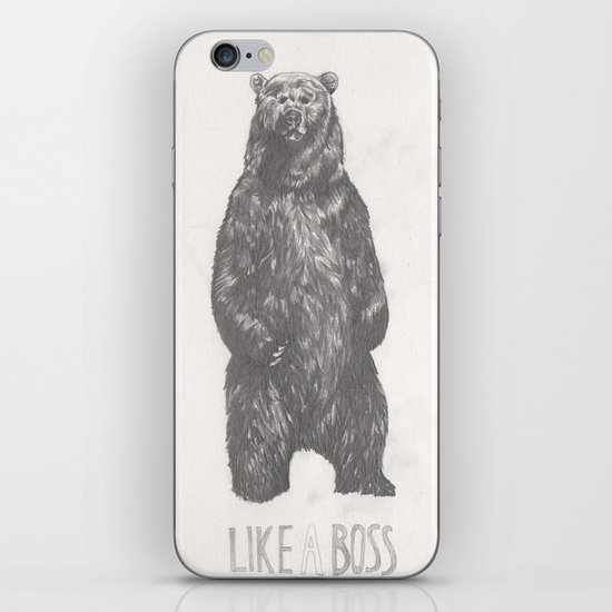 Like a Boss Bear iPhone & iPod Skin