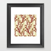 autumn pattern Framed Art Print