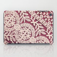 lace on red iPad Case