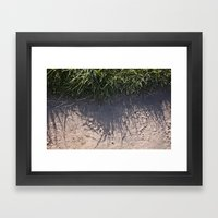 The Grass And It's Sha… Framed Art Print