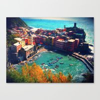 In The Middle Of The Blu… Canvas Print