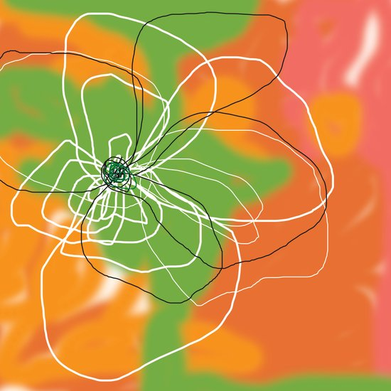 Flower and Water One Art Print