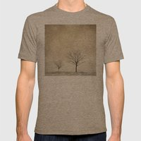 Snow Bokeh Wonderland  Mens Fitted Tee Tri-Coffee SMALL