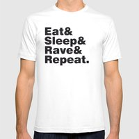 Eat & Sleep & Rave & Rep… Mens Fitted Tee White SMALL
