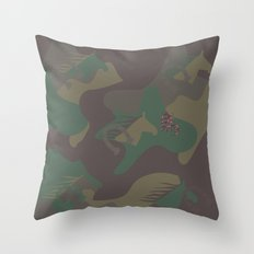 Camouflage Year of Horse Throw Pillow