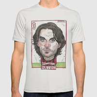 MALDINI Mens Fitted Tee Silver SMALL