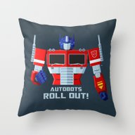 Autobots, Roll Out! (Opt… Throw Pillow