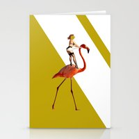 Baby you can ride my flamingo Stationery Cards