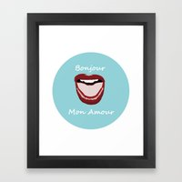 Hello My Love. Framed Art Print