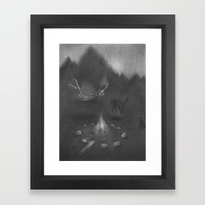 Familiar Fire Framed Art Print