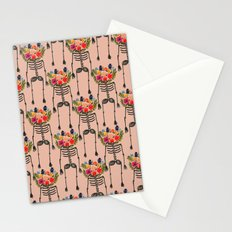 Skeleton and Flowers. Stationery Cards
