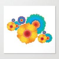 paper flowers Canvas Print