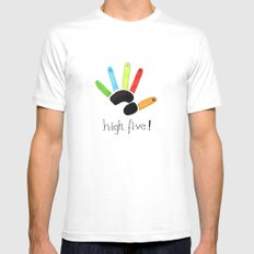 High Five! Mens Fitted Tee SMALL White
