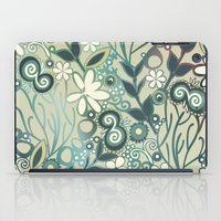 Detailed Square Of Green… iPad Case