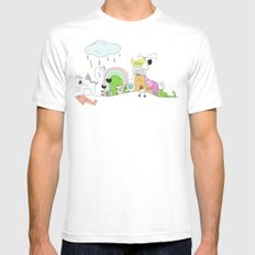 Funland 1 Mens Fitted Tee SMALL White