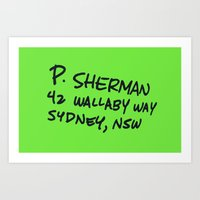 P. Sherman, 42 Wallaby W… Art Print