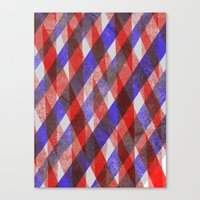 Red and Blue Diagonals Canvas Print