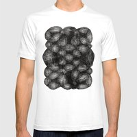 Drawing 5 White Mens Fitted Tee White SMALL