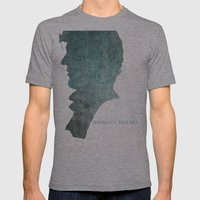 SHERLOCK Mens Fitted Tee Athletic Grey SMALL