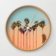 Glitch beach Wall Clock
