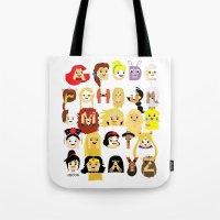 Princess Alphabet Tote Bag