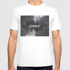 ASHWD #2 White SMALL Mens Fitted Tee