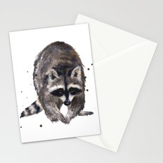 RACOON painting, wilderness nursery art, woodland animal art, racoon watercolor, cute racoon print Stationery Cards