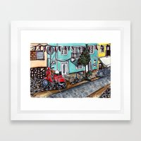 Vespa Street Framed Art Print