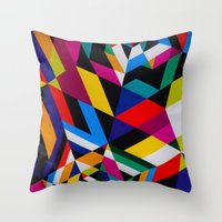Colors and Design Throw Pillow