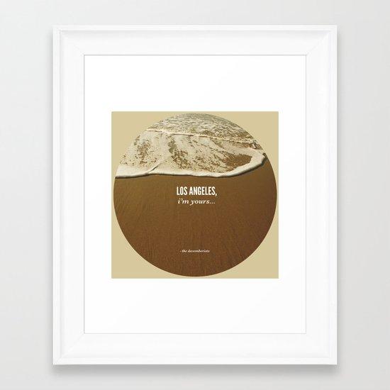 Los Angeles, I'm Yours Framed Art Print
