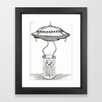 Jellyfish abduction Framed Art Print