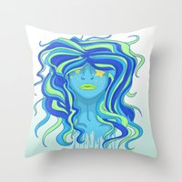 Blue Days Throw Pillow