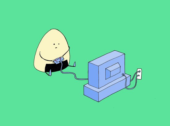 Onigiri video games! Art Print